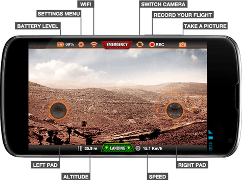 AR 2.0 Drone Elite Edition Sand Control Remoto